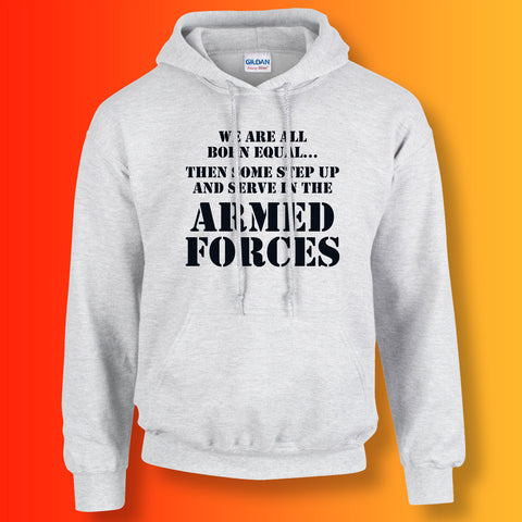 Armed Forces All Born Equal Hoodie