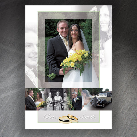 Wedding Montage Print Personalised Your Photographs