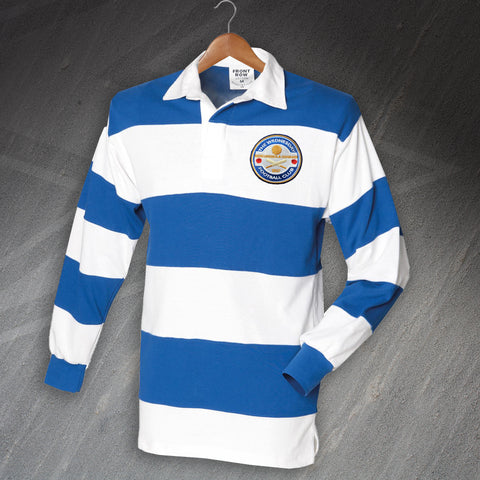 Sheffield Wednesday Football Shirt Embroidered Long Sleeve Hooped The Wednesday