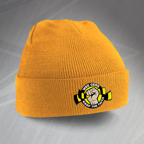Berwick Football Beanie Hat Embroidered Wee Gers Keep The Faith