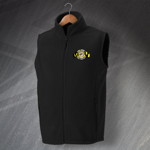 Berwick Football Fleece Gilet Embroidered Wee Gers Keep The Faith