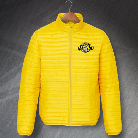 Berwick Football Jacket Embroidered Fineline Padded Wee Gers Keep The Faith