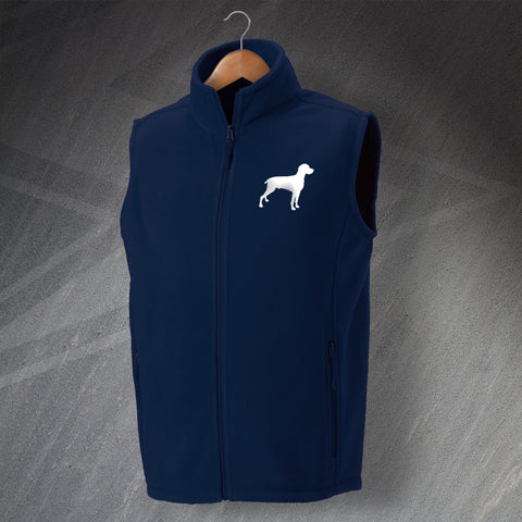Weimaraner Fleece Gilet Embroidered