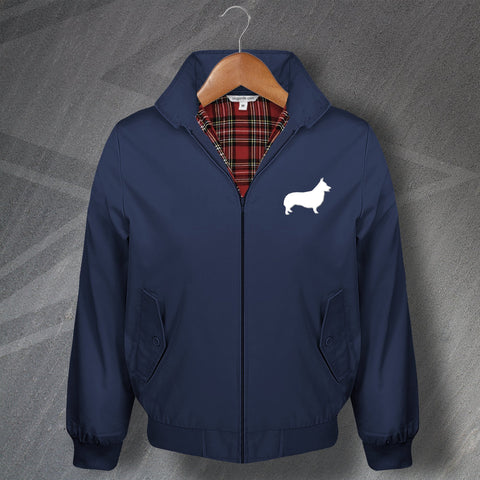 Welsh Corgi Harrington Jacket Embroidered