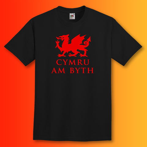 Welsh Dragon T-Shirt Black