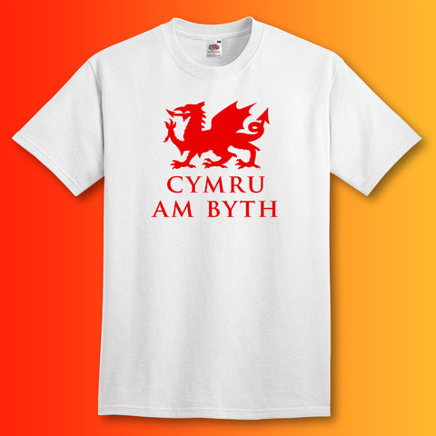 Welsh Dragon T-Shirt White