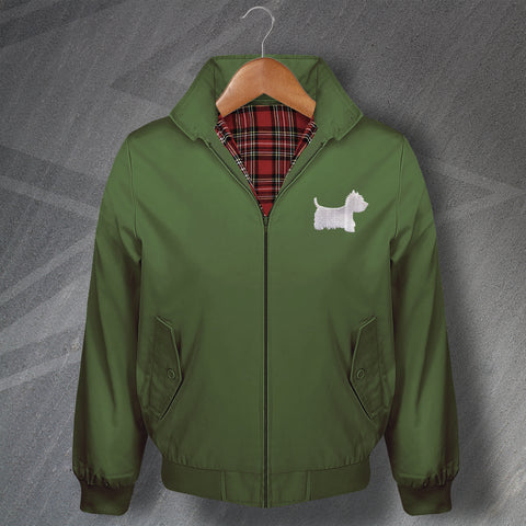 West Highland White Terrier Embroidered Classic Harrington Jacket