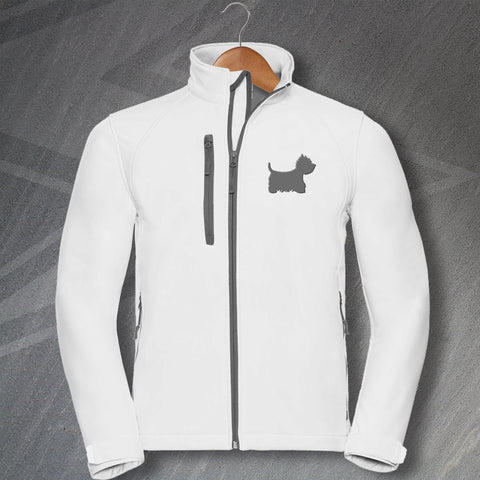 West Highland White Terrier Jacket Embroidered Softshell