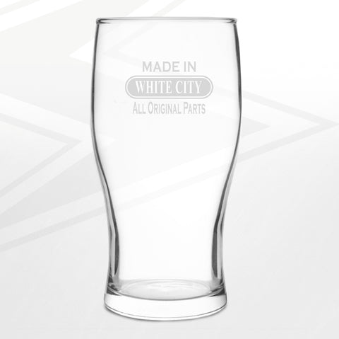 White City Pint Glass Engraved Made in White City All Original Parts
