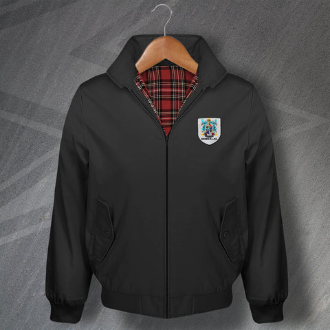 Retro Widnes RLFC Classic Harrington Jacket with Embroidered Badge