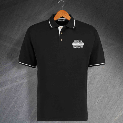 Wolverhampton Polo Shirt Embroidered Contrast Made in Wolverhampton All Original Parts
