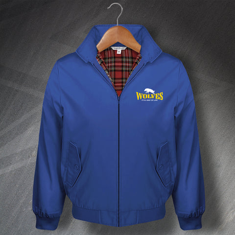 Warrington Rugby Harrington Jacket Embroidered Wolves It's a Way of Life