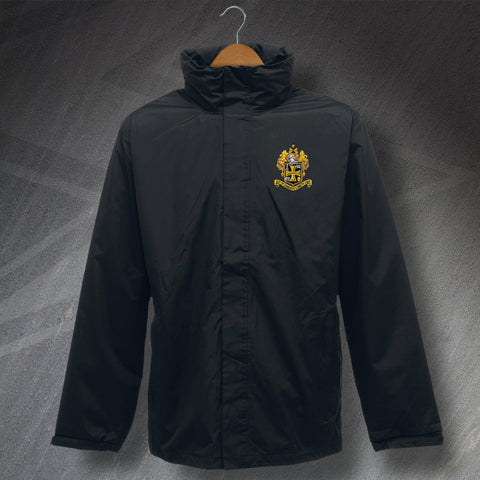 Retro Wolves Waterproof Jacket with Embroidered 1921 Badge