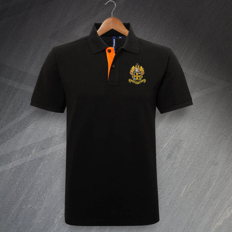 Wolves Football Polo Shirt Embroidered Classic Fit Contrast 1921