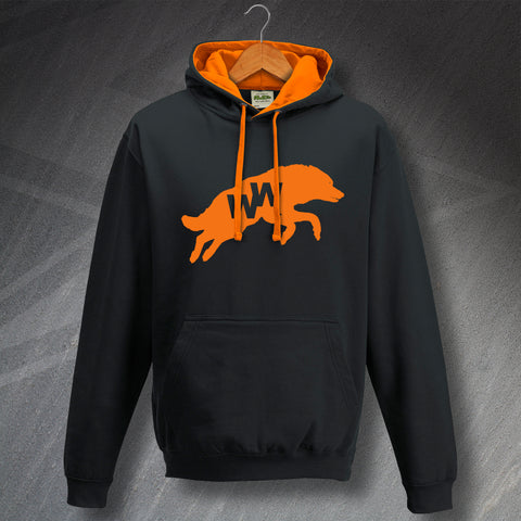 Retro Wolves Contrast Hoodie