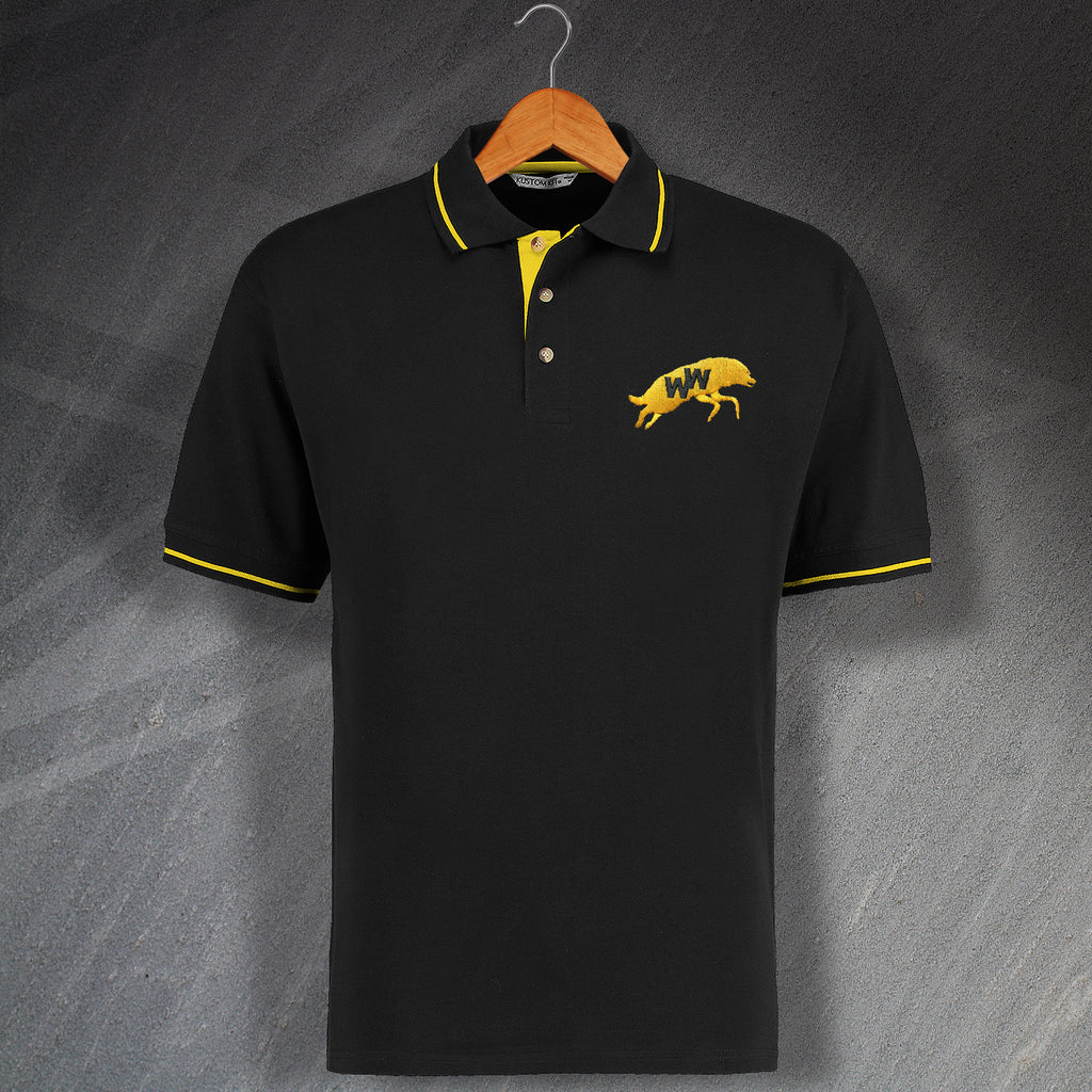 Retro Wolves Polo Shirt