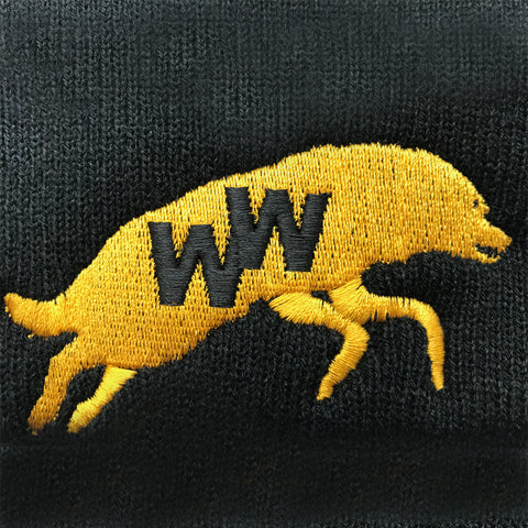 Retro Wolves Embroidered Badge