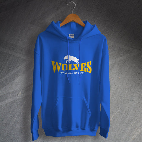 Warrington Rugby Hoodie Wolves It's a Way of Life