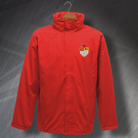 Retro Wrexham Waterproof Jacket with Embroidered Badge