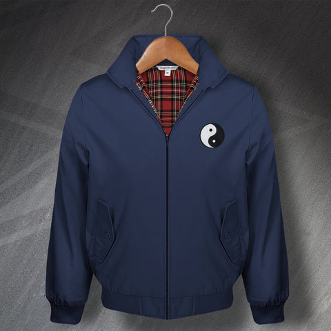 Yin and Yang Embroidered Classic Harrington Jacket