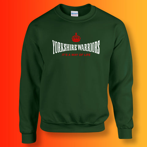 The Yorkshire Warriors Sweater with It's a Way of Life Design