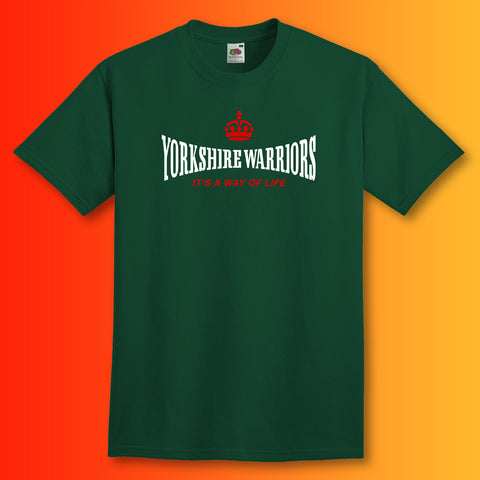 The Yorkshire Warriors T-Shirt with It's a Way of Life Design