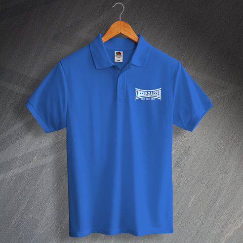 Chelsea Football Polo Shirt Printed Zigger Zagger