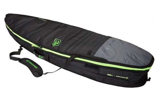 6'3 SHORTBOARD DOUBLE : CHARCOAL LIME