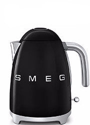 Smeg KLF01BLUK Black 50's Retro Style Cordless Kettle -