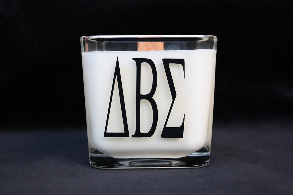 Monogram Candle- Greek - High Cotton Candle Company, LLC