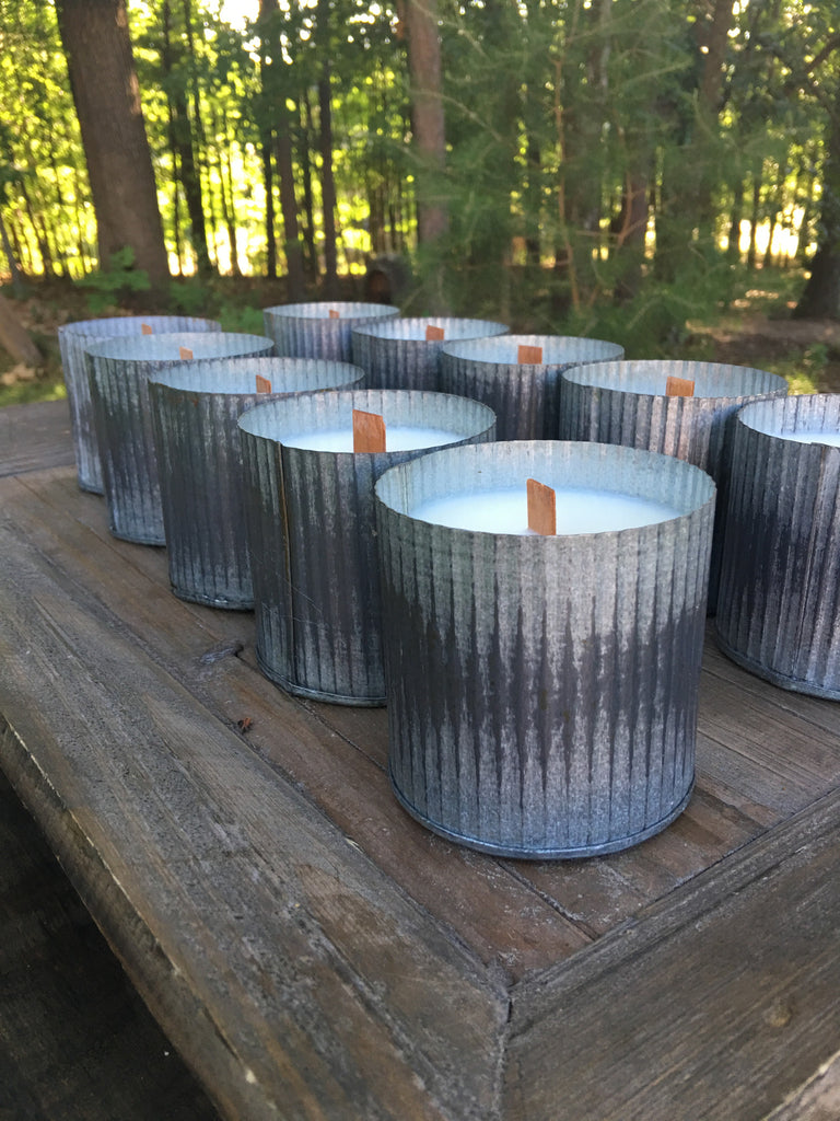 Wholesale Citronella Candles -14oz. Candles Case (12 Galvanized Tins ) - High Cotton Candle Company, LLC