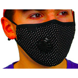 Air Filter Mask - ethentic Black Dot Design