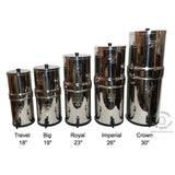 Travel Berkey with 2 Black Filters (Fluoride Filters Available Also) - In Stock Now