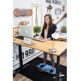 Zone Fitness System Standing Desks & Advanced Fitness Balance Board( Royal / Tan EVA Top)