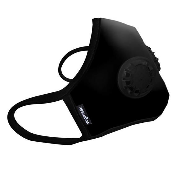 Air Filter Mask - Vogmask Organic Black - Double Valve