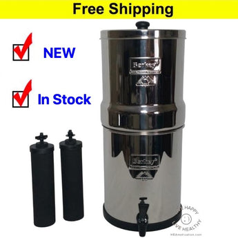 Big Berkey with 2 Black Filters (Fluoride Filters Available Also) - In Stock Now !