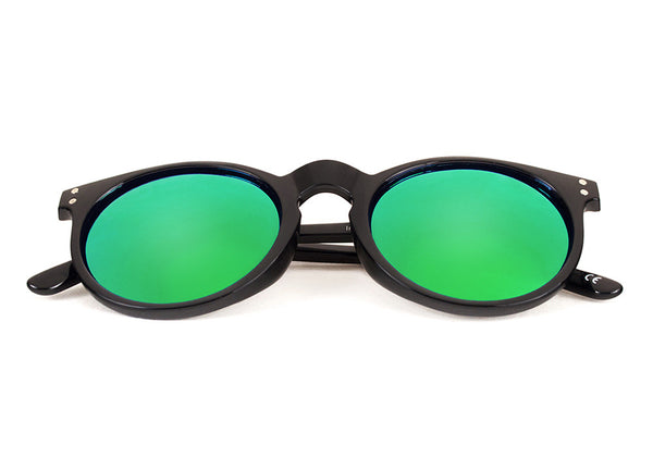 CHOCOLATE HILLS Black - Green Mirror - Scapes Sunglasses - 1