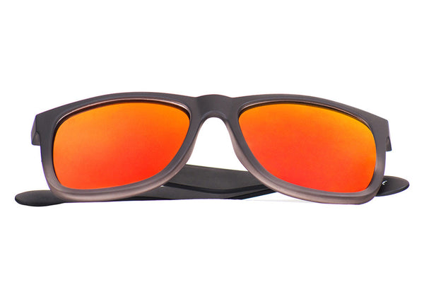 BIG ISLAND Black Gradient - Red / Orange Mirror - Scapes Sunglasses - 1