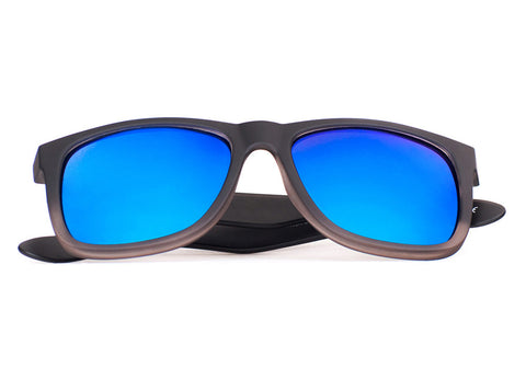KAUAI Black Gradient - Blue Mirror - Scapes Sunglasses - 1