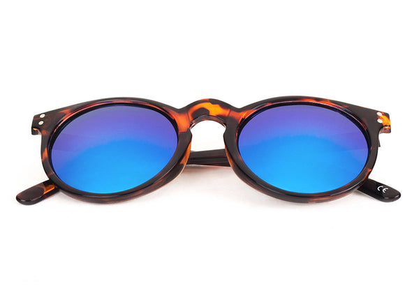 MYKONOS Light Tortoise - Blue Mirror - Scapes Sunglasses - 1