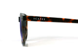 SANTORINI Dark Tortoise - Purple Mirror - Scapes Sunglasses - 5
