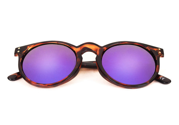 SANTORINI Dark Tortoise - Purple Mirror - Scapes Sunglasses - 1