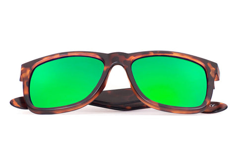 VAI, Light Tortoise - Green Mirror - Scapes Sunglasses - 1