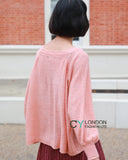 Balloon sleeves jumper