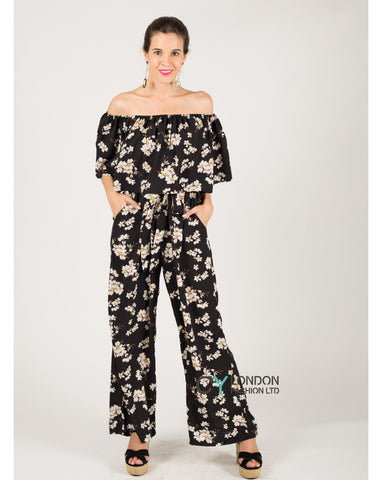 Floral pattern off shoulder co-ords set