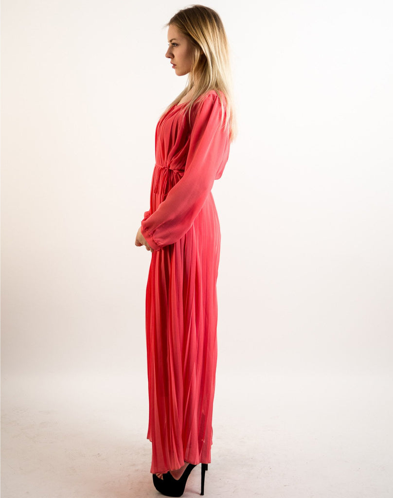 Pleated Long Maxi Dress