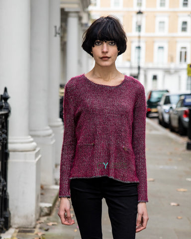 Burgundy Color knitted jumper