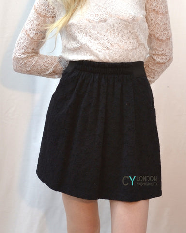 Floral Lace Skater Skirts