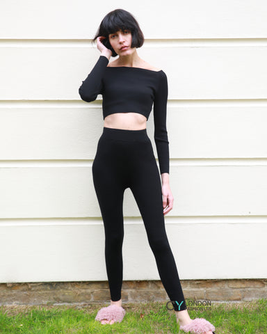 Cropped top and leggings set