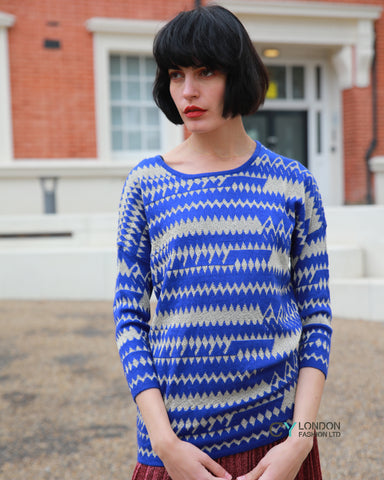 Gold lurex Stripe Knitted long Jumper